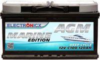 Electronicx Marine Edition Batterie AGM 120 AH 12V Boot Schiff Versorgungsbatterie