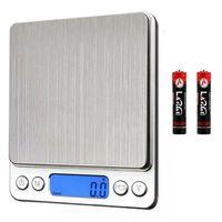 Digitalwaage 3000g x 0,1g Küchen-Lebensmittel-Grammwaage Elektronisches Gewicht Taschengröße