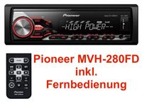 PIONEER MVH-280FD mit High Power Endstufe 4 x 100 Watt USB MP3 Autoradio AUX-In