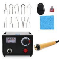 Holzbrenner Pyrography Pen Brennmaschine Kuerbis Handwerk Werkzeug Set Mit Schweissdraht Top Einstellbare Temperatur