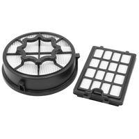 vhbw Staubsauger Filter Set kompatibel mit AEG LX4-1-SM-P, WR, EB X Efficiency Staubsauger Abluft-Filter, 1 x Hepa-Filter, 1 x Vormotor-Filter