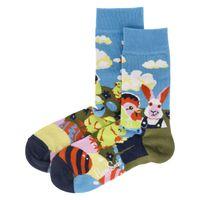 Happy Socks Socken EASTER EGG Blau Uni