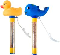 well2wellness® Poolthermometer Set Tier Pool Thermometer Ente und Walfisch