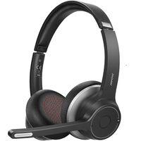 Mpow HC5 Stereo Bluetooth-Headset ,22 Stunden Wireless Bluetooth Headset mit Mikrofon, CVC8.0 Bluetooth Kopförer BT5.0, 3.5mm Wired Headset für VoIP, Skype, PC, Smartphone,Tablet