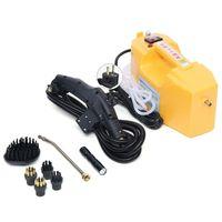 Handdampfreiniger Dampfreiniger Hochdruck Hochdruckreiniger mit Zubehör-Pack 2600W 200-500ml / min Tragbar (Gelb)