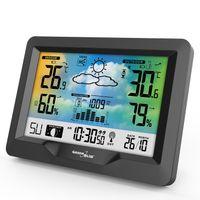 Wetterstation Farbdisplay Uhr Innentemperatur Außentemperatur Wettervorhersage