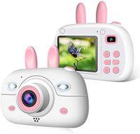 Kinder Kamera, Kinderkamera Digital Fotokamera Selfie, 2,4 Zoll Digitalkamera 8 Mpixel, vorderes und hinteres Objektiv, Blitzlicht, 16G SD-Karte