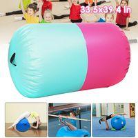 Gymnastics Mat Gym Track Tumbling Rolle Air Mat Yoga Matte Aufblasbar 100x85cm