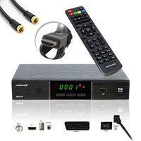 PremiumX HD 520 FTA Digital SAT Receiver DVB-S2 HDMI SCART Antennenkabel schwarz