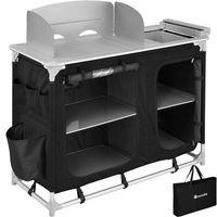 tectake Campingküche 116x52x107cm - schwarz