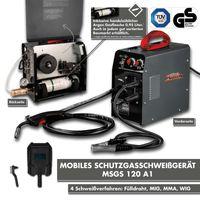 Mobiles Mauk Schutzgasschweißgerät MSGS 120 mit integrierter Argon-Gasflasche