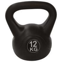 Kugelhantel, Kettlebell, PVC mit Sand gefüllt, 2 kg 4 kg 6 kg 8 kg 10 kg 12 kg 16 kg, kg:12