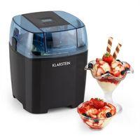 Klarstein Creamberry - Eismaschine , Speiseeismaschine , 4-in-1-Eisbereiter , Zubereitung in 20 Minuten , 1,5 Liter Fassungsvermögen , Thermobehälter , stromsparend , schwarz