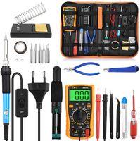60W Digital Multimeter Elektronikset Werkzeugset Lötkolben Set 23 in 1 Lötset Temperatur für Reparaturen Kit