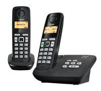 Gigaset Festnetztelefon AL225A Duo, Farbe: Schwarz