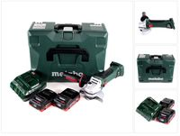 Metabo W 18 LTX 125 Quick Akku Winkelschleifer 18V 125mm ( 602174840 ) mit MetaLoc + 2x Akku 4,0 Ah + Ladegerät