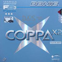 DONIC Belag Coppa X2 (Platin Soft) Schwarz max.