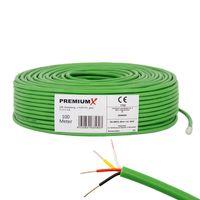 PremiumX 100m EIB BUS-Kabel J-Y(ST)Yh 2x2x0,8 Eca Busleitung Datenkabel grün