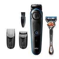 Braun BT3240 Herren-Barttrimmer und Haarschneider, 39 Längeneinstellungen, schwarz/blau