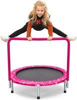 COSTWAY φ92cm Mini Trampolin, Fitness Trampolin faltbar, Kindertrampolin bis 150kg belastbar, Gartentrampolin, Indoor- und Outdoortrampolin