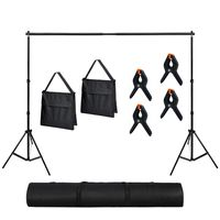 LZQ 2x3M Foto Hintergrund Ständer Set Verstellbarer aus Aluminiumlegierung Hintergrundständer mit Tragetasche für Fotostudio, 5 kg Tragfähigkeit