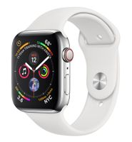 Apple Watch Series 4 GPS Cell 44mm Steel White Band