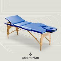 SportPlus Massageliege Massagetisch Massagebank klappbar mobil Holz inkl. Tasche