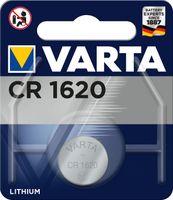 Varta 1x 3V CR 1620, Einwegbatterie, Lithium, 3 V, 1 Stück(e), 70 mAh, Silber