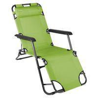 VCM klappbare Sonnenliege Relaxliege Liegestuhl hellgrün Klappliege Stahl