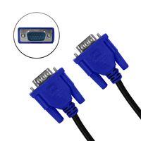 Eaxus® 1,80 Meter VGA Kabel, Anschluss eines PCs / Notebooks am Monitor, TV oder Beamer. Monitorkabel / Bildschirmkabel mit doppelter Abschirmung und Schrauben. Bis Full HD 1920x1080 Pixel 15-polig