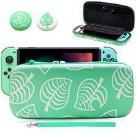 Tasche für Switch, Tragetasche mit 2 Pcs Daumengriffkappen, Aufbewahrungsbox SchütztKoffer mit Größerem Speicherplatz für Switch und Anderes Nintendo Switch Zubehör