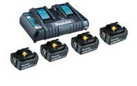 Makita 199483-0 - Batterie- & Ladegerät-Set - Lithium-Ion (Li-Ion) - 5 Ah - 18 V - Makita - 4 Stück(