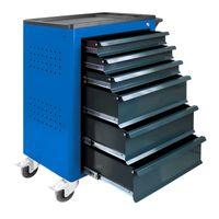 ADB Werkstattwagen / Werkzeugwagen Basic leer, blau, 6 Schubladen, 3x 80mm 3x 160mm