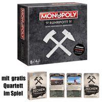 Monopoly Ruhrpott inkl. GRATIS QUARTETT Brettspiel Gesellschaftsspiel NEU