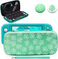 Tasche für Switch Lite, Tragetasche mit 2 Pcs Daumengriffkappen, Aufbewahrungsbox Reisetasche mit Größerem Speicherplatz für Switch Lite und Anderes Nintendo Switch Lite Zubehör