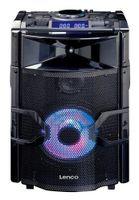 Lenco DJ Mixer System PMX-250, Bluetooth, Partylicht, Radio, Farbe: Schwarz