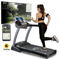 ArtSport Laufband Speedrunner 7000 klappbar, Kinomap-Funktion, 3 PS Motor, 22 km/h, 48 Programme – Heimtrainer elektrisch LCD Display & Steigung
