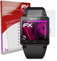 atFoliX FX-Hybrid-Glass Panzerfolie kompatibel mit Sony SmartWatch 2 Glasfolie