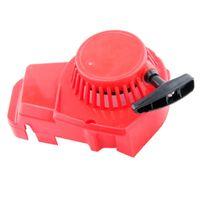 Tragbarer Zugstarter Mit Rückstoßfunktion Für 47ccm 49ccm ATV 2-Takt-Scooter Rot Farbe rot