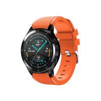 Orange Uhrenarmbänder 22mm Silikon Armband für HUAWEI WATCH GT 2 46mm / HONOR MagicWatch 2 46mm