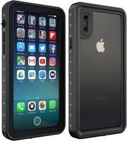 Schwarze Telefonkasten  Unterwasser wasserdichte  IP68 Hülle Für  iPhone X