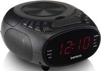 Lenco Radiowecker  CR-740, CD-Player, Farbe: Schwarz