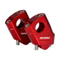 """1 Paar 7/8\"""" Universal Motorrad Aluminium Lenker Riser Mount Adapter Farbe Rot 28mm"""