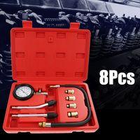 Kompressionstester Messgerät Kompressionsprüfer für Benzin motor Set 8tlg