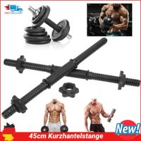 2tlg Kurzhantelstange Hantelstange Kurzhanteln Bar 45x2.4cm Fitness Stange NEU