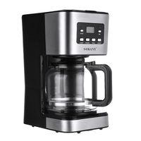 Kaffeemaschine mit Thermoskanne und Timer (Filtermaschine, 12 Tassen, 1,5 Liter, 950 Watt, Warmhaltefunktion, Timer Zeitschaltuhr, Antitropf, Display, ) Edelstahl