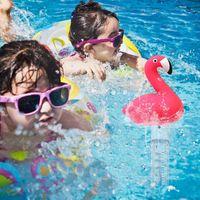 Schwimmbadthermometer ℃ / ℉ Genaue Temperaturwerte Cartoon Schwimmbadwasserthermometer mit Schnur,geeignet für Außen- und Innenschwimmbäder, Spas, Whirlpools