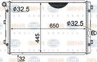 HELLA Kühler Motorkühlung für VW GOLF V 1K1 für AUDI A3 8P1