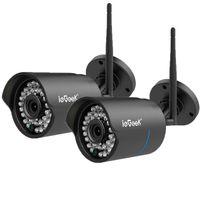 2x ieGeek1080P HD WIFI IP kamera Überwachungskamera WLAN Webcam Außen Wasserfest @#