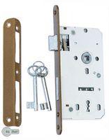 Einsteckschloss Türschloss 72 / 50 Links / Rechts mit Gegenplatte mit Schlüssel